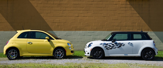 Winding Road Mini Cooper Vs Fiat 500