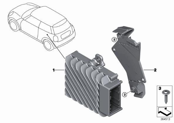 BMW Mini Cooper One R50 R52 SOUND INSULATING ENGINE HOOD