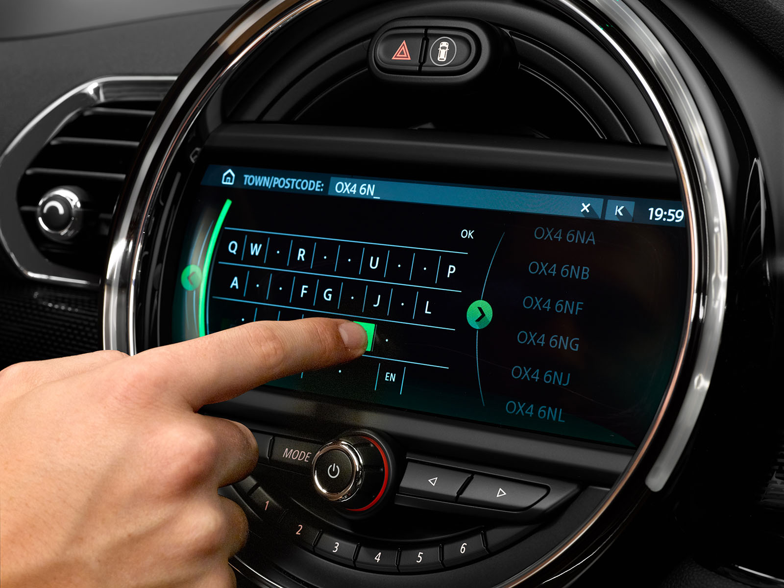 MINI's new touchscreen navigation